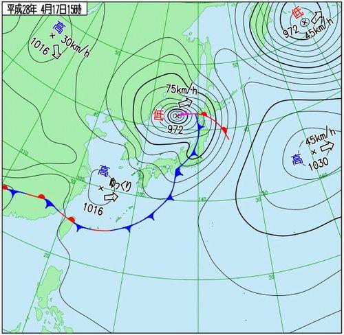 メイストームの参考天気図