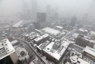 東京都心での積雪の様子