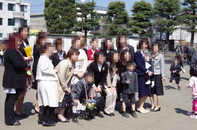 幼稚園の卒園式の実際の写真
