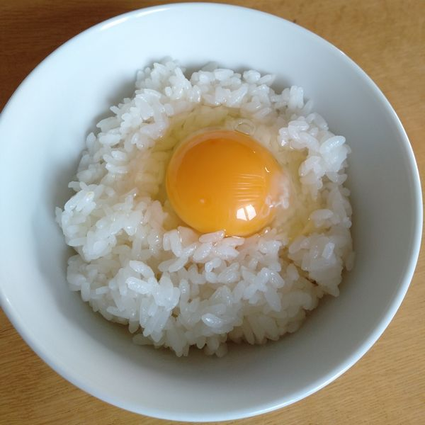 卵かけご飯の様子